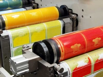 flexographic label printing for consumer products