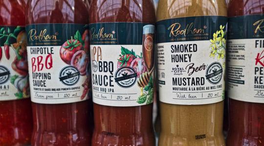 food product label printing